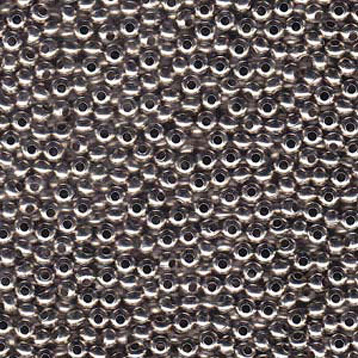 Tiny Nickel Plated Brass Metal Seed Beads Tiny 15/0 Seed Bead Approx 14 Gram Tube