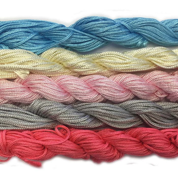 Chinese Knotting Beading Cord Mixed Approx 1.5mm 5 (12 Yard Skeins) for Crafts and Knotted Jewelry Like Shamballa Bracelets 6