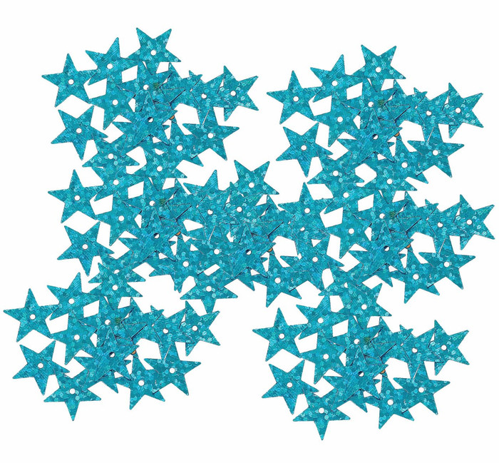 4000 Blue Star Sequin with Paillette Sewing/embellishment Findings 14mm