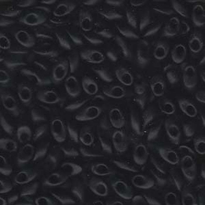 100 grams Black Mat 4x7mm Miyuki Long Magatama Glass Fringe Beads