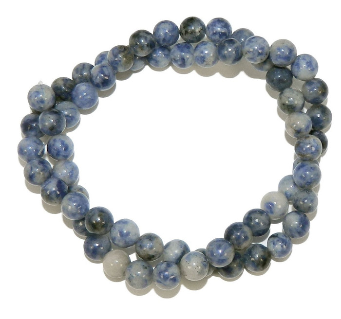 "6mm Denim Lapis Natural  Round Beads 40cm 15""  Stone"