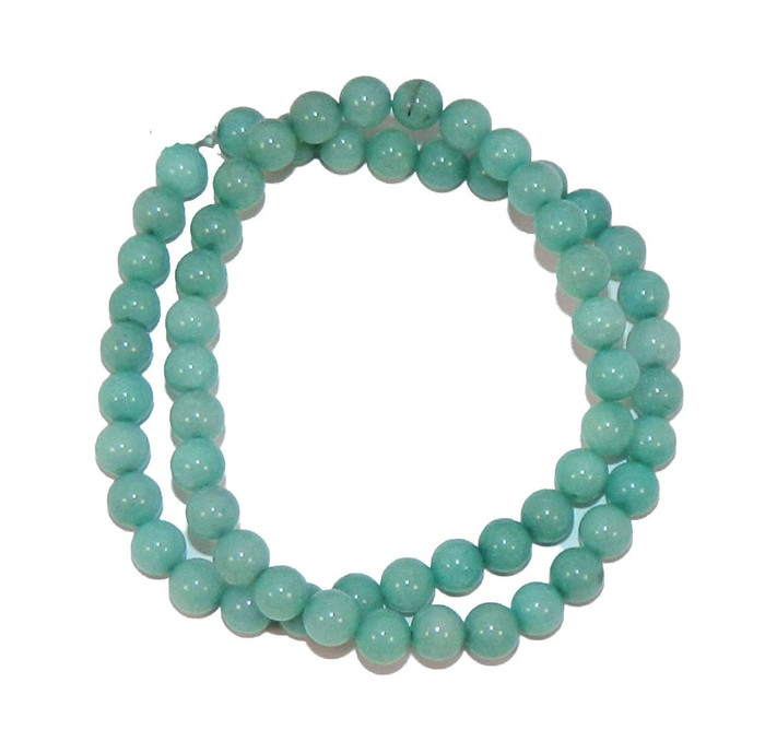 "6mm Amazonite Dyed  Round Beads 40cm 15""  Stone"
