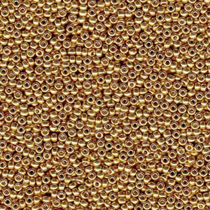 Gold 20 Grams Miyuki 6/0 Seed Bead Duracoat Galvanized 20 Gram