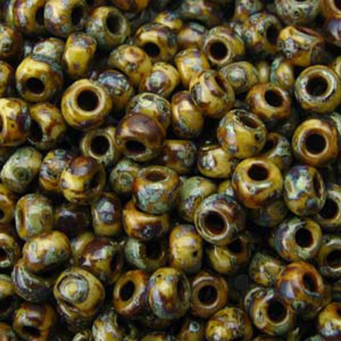 Picasso Brown Tan Matte 20 Grams Miyuki 6/0 Glass Seed Bead 20 Gram