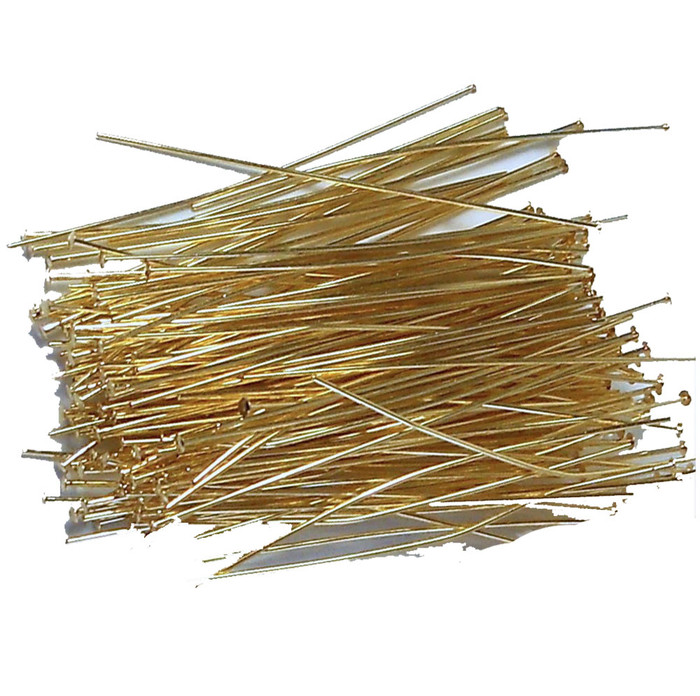 144 Head Pins 029dia X 2 25 Inch Gold Plated St ard 21 Gauge Wire