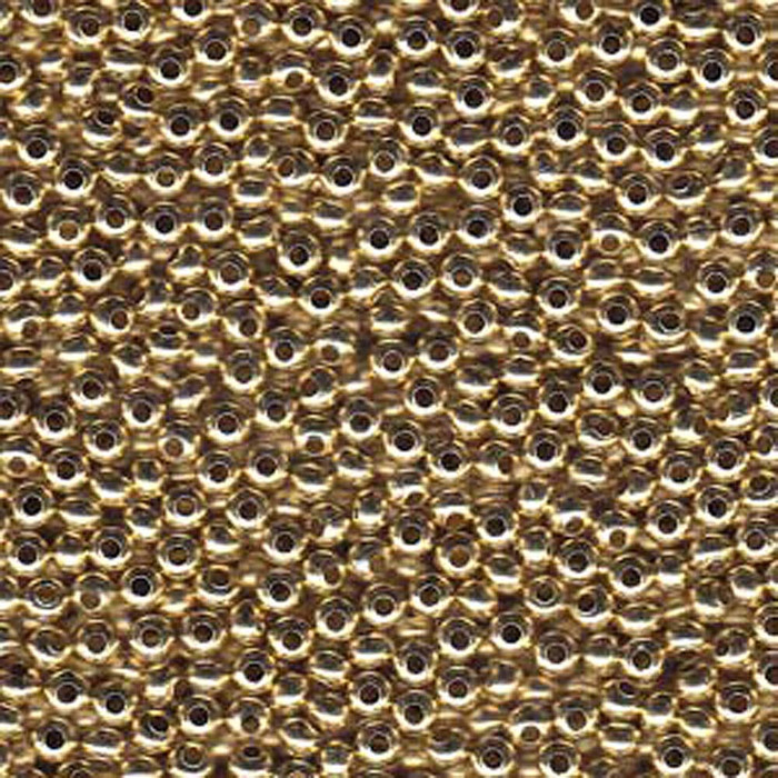 Genuine Metal Seed Beads 11/0 Yellow Brass 15 Grams
