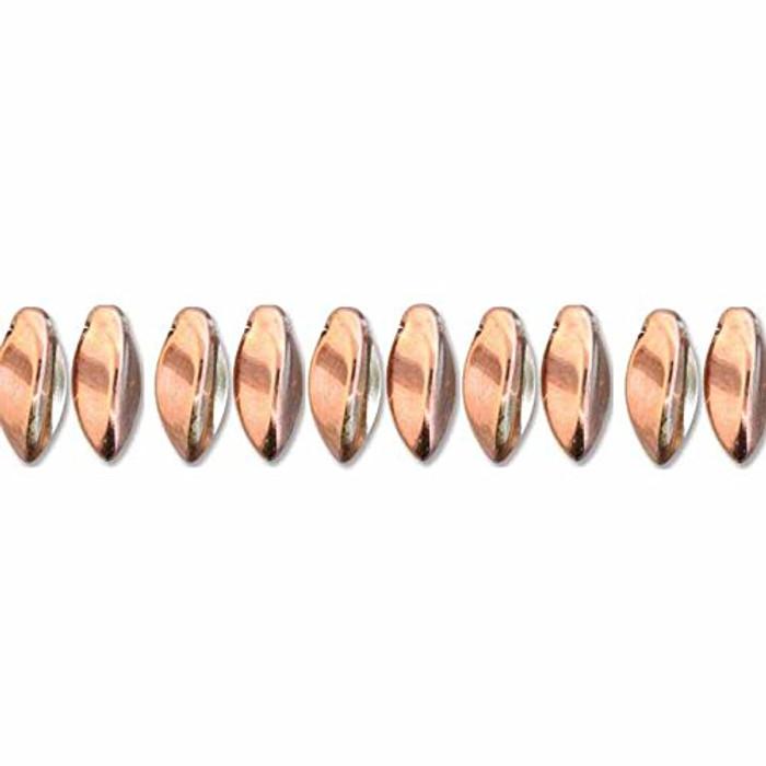 Crystal Capri Gold Czech Glass Twist Beads 6x12mm Apprx 25 bead loose strand