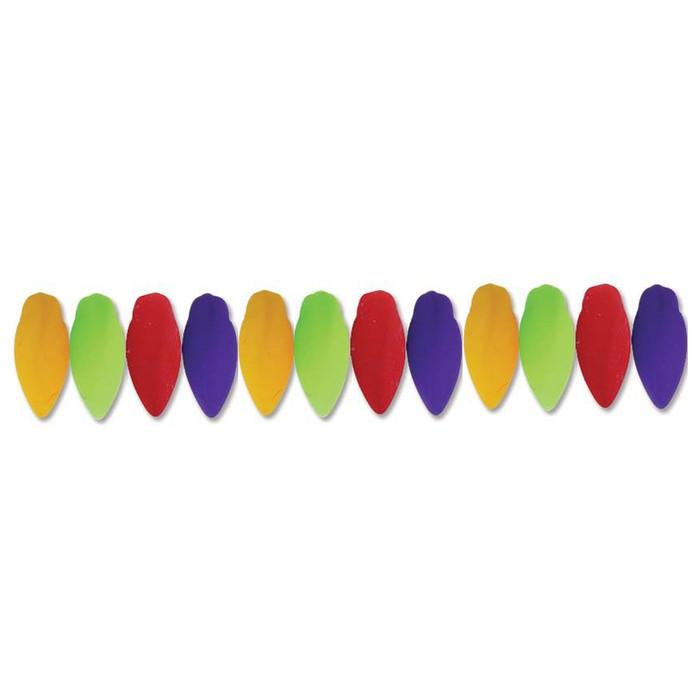 Neon New Mix Czech Glass Twist Beads 6x12mm Apprx 25 bead loose strand