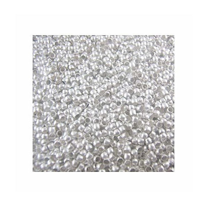 800 Crimp Beads - 3mm Shiny Silver Plated Lead Free Alloy Beads