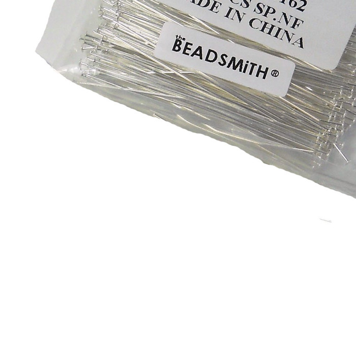 144 Head Pins 029dia X 2 25 Inch Silver Plated St ard 21 Gauge Wire
