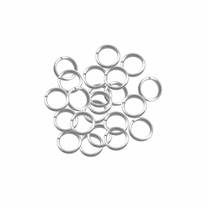 95 Round 7.5mm 19 Gauge Stainless Steel Jump Rings USA