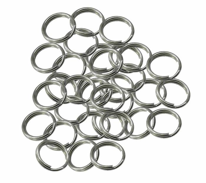 48 Split Ring  Nickel Plated Steel 11mm USA