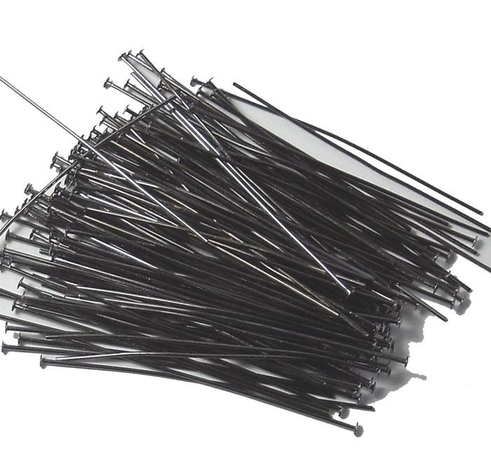 144 Head Pins 029dia X 2 Inch Gumetal Plated St ard 21 Gauge Wire