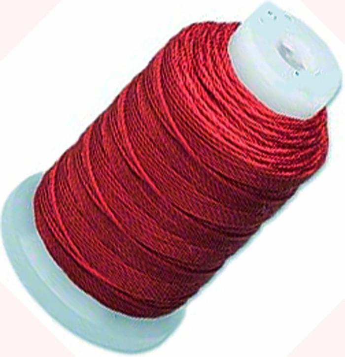 Silk Beading Thread Cord Size E Maroon 0.0128 Inch 0.325mm Spool 200 Yd