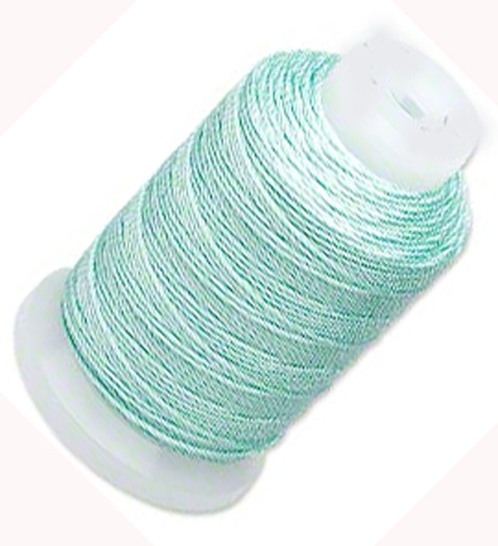 Silk Beading Thread Cord Size FF Turquoise 0.015 Inch 0.38mm Spool 115 Yd
