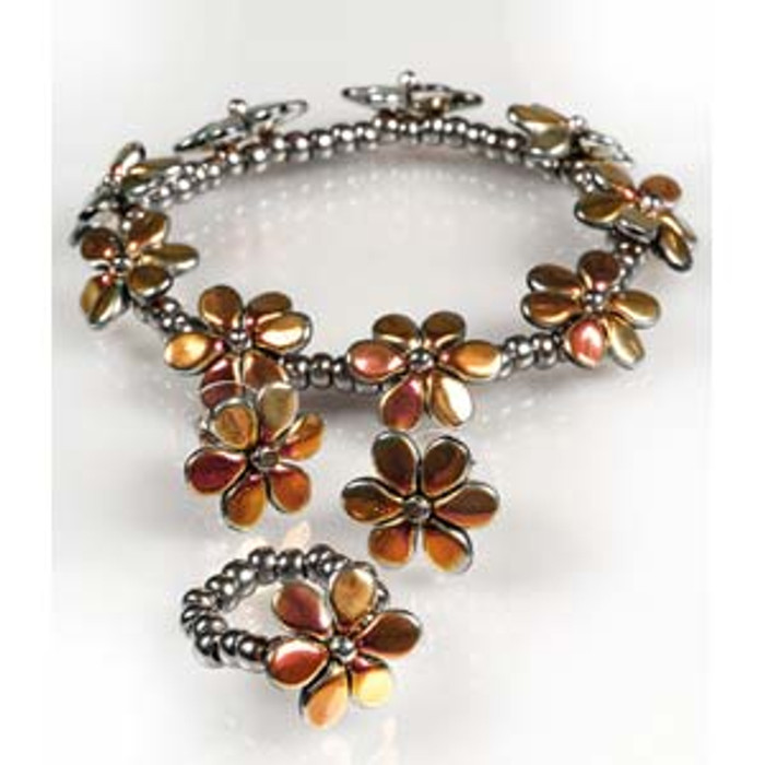 FLOWERING MEADOW Free Jewelry Instructions for NEW Pip Complements of The BeadSmith