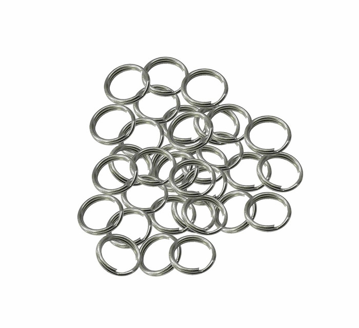 48 Split Ring Connector Nickel Plated Spring Steel 9mm USA