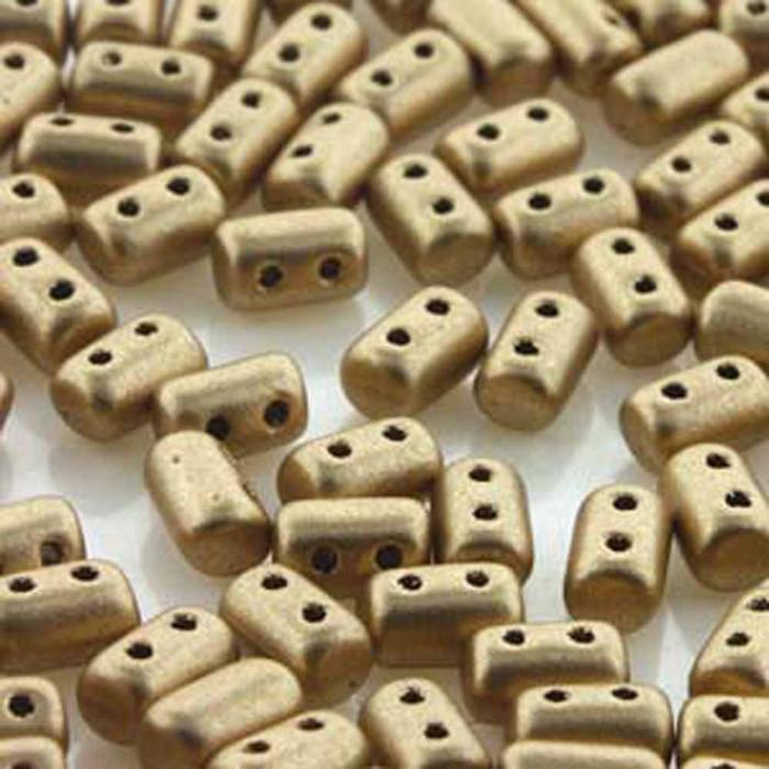 Rulla CRYSTAL BRONZE GOLD Czech Glass 2-hole Seed Beads 3x5mm 22 Gram