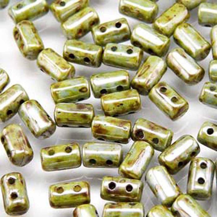 Rulla CHALK LAZURE BLUE Czech Glass 2-hole Seed Beads 3x5mm 20 Gram 2 Hole