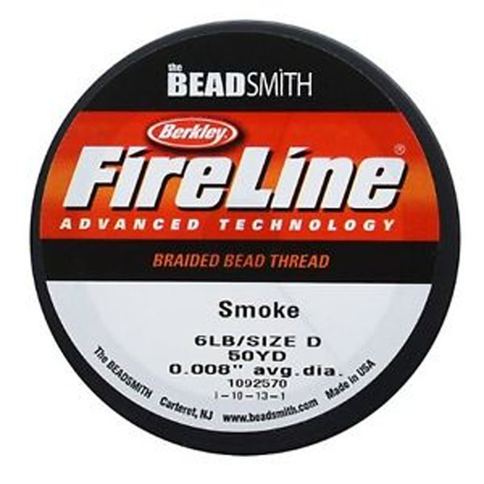 "FireLine Braided Bead Thread .008"" Smoke Grey"