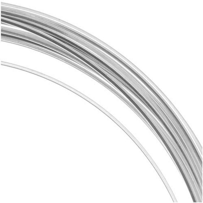 21 Ga Square Copper Craft Wire Silver Plate 42848