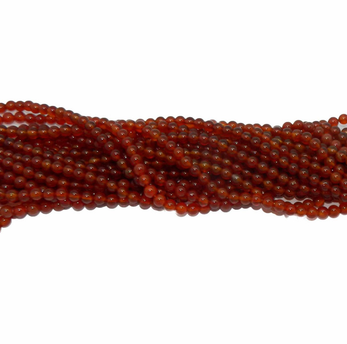 "6mm Carnelian round Gemstone Beads 15"" loose Strand"
