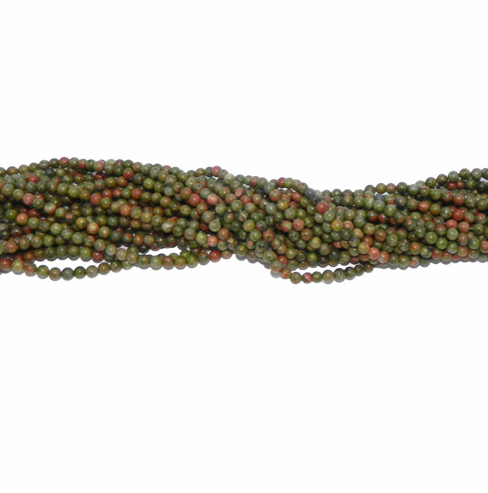 """4mm Unikite Natural  Round Beads 40cm 15""""  Stone"""