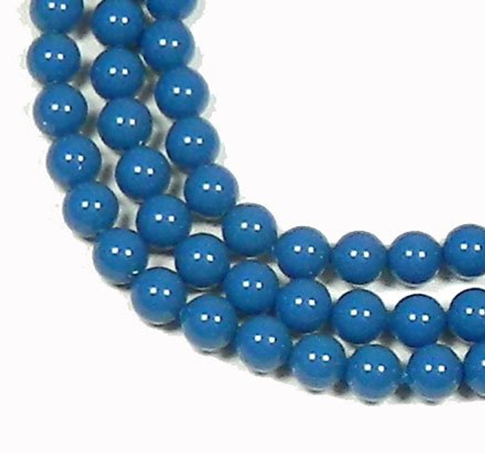 "100 Swarovski Crystal Pearls 4mm Round Beads 5810. 16"" Loose Strand Lapis"