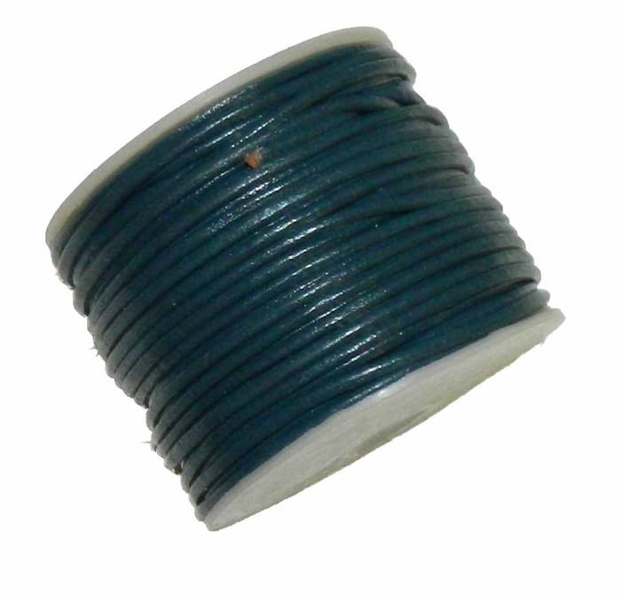 Copy of Rockin Beads 1.5mm Buffalo Leather Round Cord 25 Yards Deep Blue
