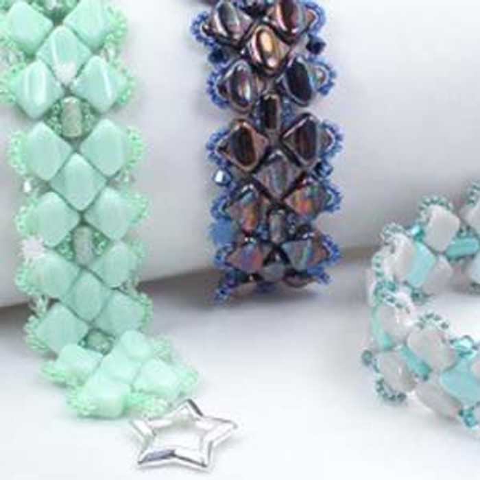 FIVE OF DIAMONDS - Free Jewelry Making Project complements of Bead Smith(R)