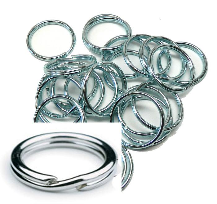 24 Rings 1-1/4 Inch Split KEY Ring  Keychain Zinc Plated Steel USA