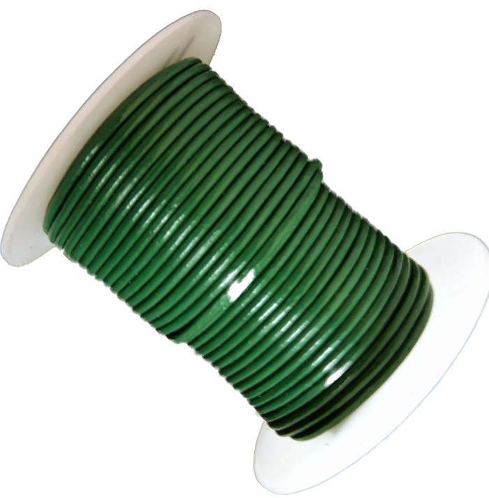 Green 1.5mm Buffalo Leather Round Cord 25 Yards