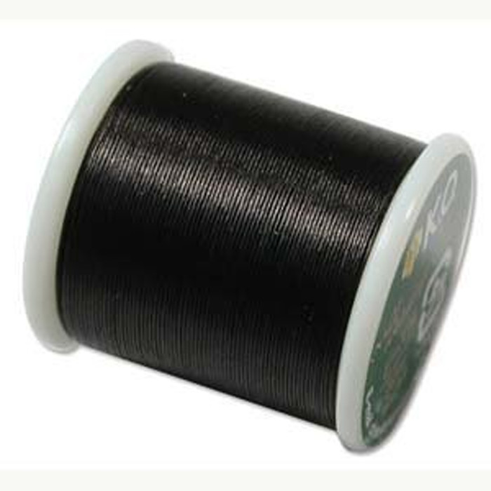 Japanese Nylon Beading Thread by KO for Delica Beads BLACK