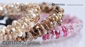 Glittering Spiral Free Jewelry Tutorial from Preciosa with Firepolish