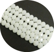 Milky White Alabaster Faceted 6mm Rondelle Beads 90 Piece Luster Glass Crystal Beads
