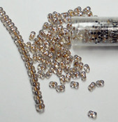 Sparkle Beige Lined  Miyuki Berry Bead 2.5x4.5mm Seed Bead Glass 22 Gram