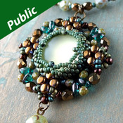 LEDA PENDANT - Free Jewelry Making Project complements of Bead Smith(R)