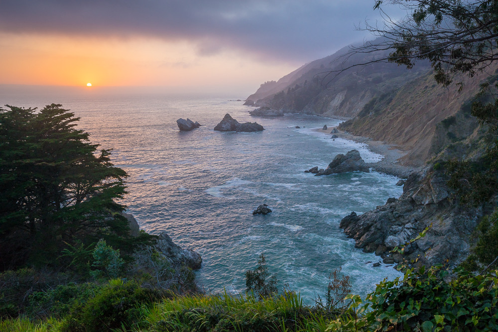 The Big Sur Coast North of McWay Falls