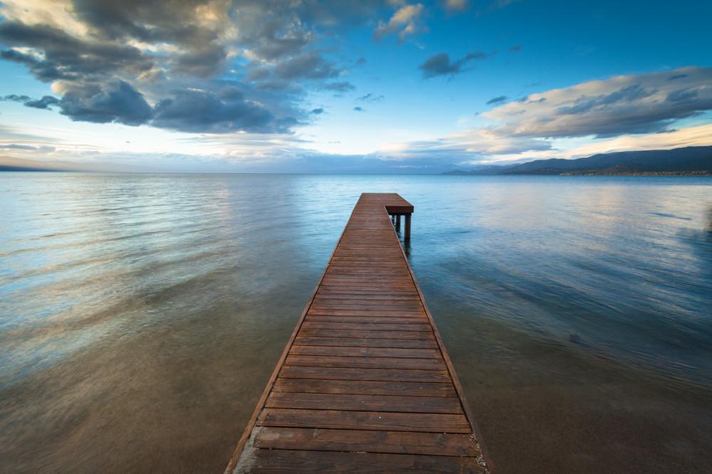Sunset - The Pier at Lake Tahoe