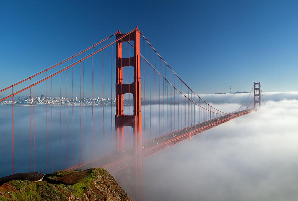 Golden Gate Bridge and Winter Fog