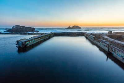 The Sutro Baths in the Blue Hour
