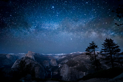 Glacier Point and the Milky Way