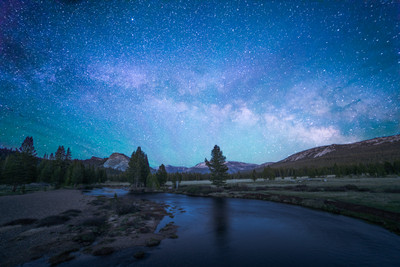 Tuolumne Meadows and the Milky Way