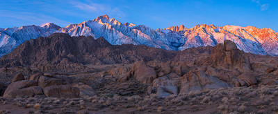 Dawn over the High Sierra at the Alabama Hills