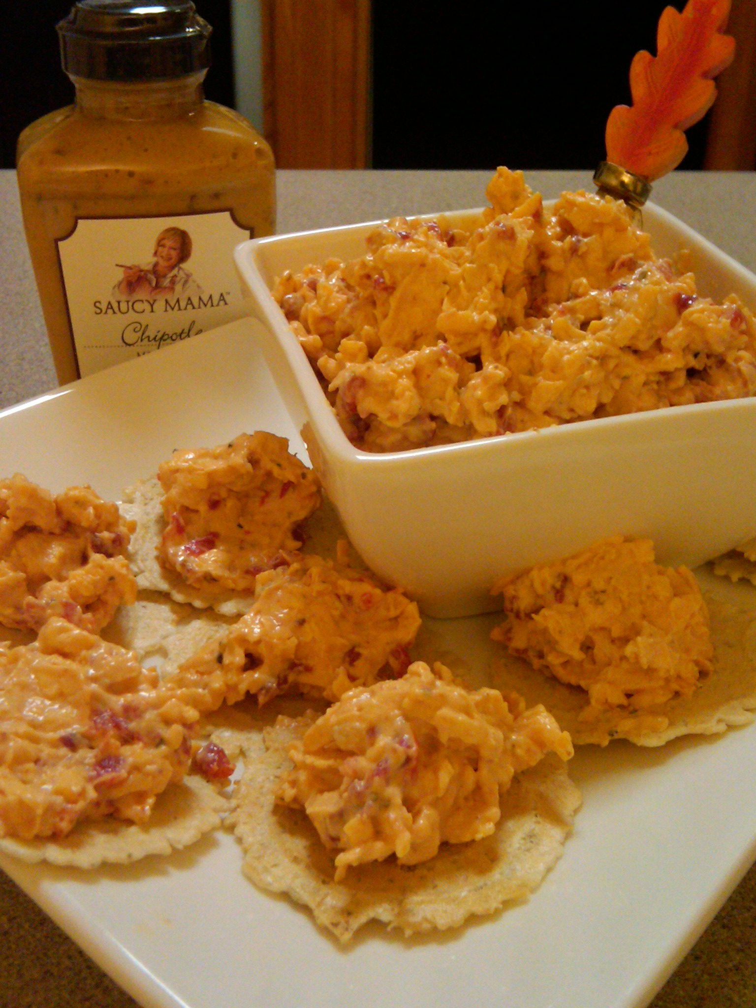 Party Food- Chipotle Pimiento Cheese Dip