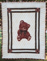 Country Teddy Bear Baby Quilt