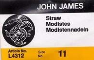 John James Straw Needles Sz 11