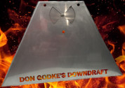 STAINLESS STEEL Downdraft for the Green Mountain Grills Jim Bowie OR Daniel Boone  Not Painted....it's Stainless Steel