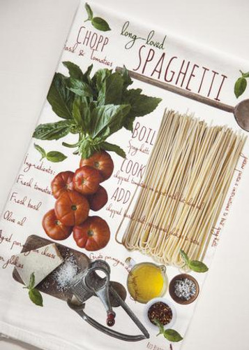 Spaghetti Recipe Kitchen Towel