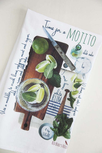 Mojito Recipe Tea Towel